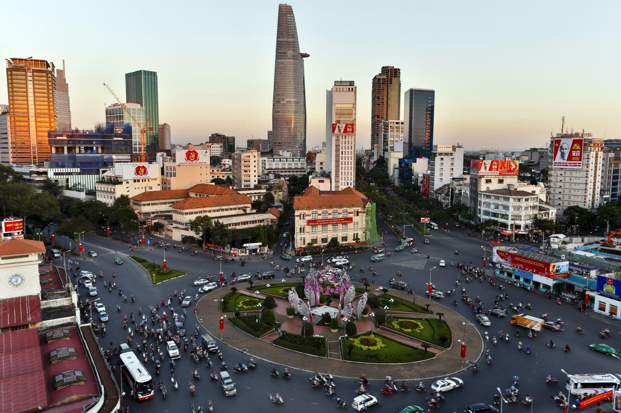 Ho-Chi-Minh-Stadt liegt im Vietnam und ist ein beliebtes Touristenziel.