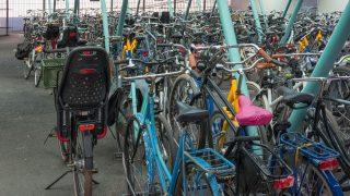 In Utrecht gibt es ein Fahrradparkhaus.