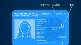 Digitaler Personalausweis: Die Vorderseite