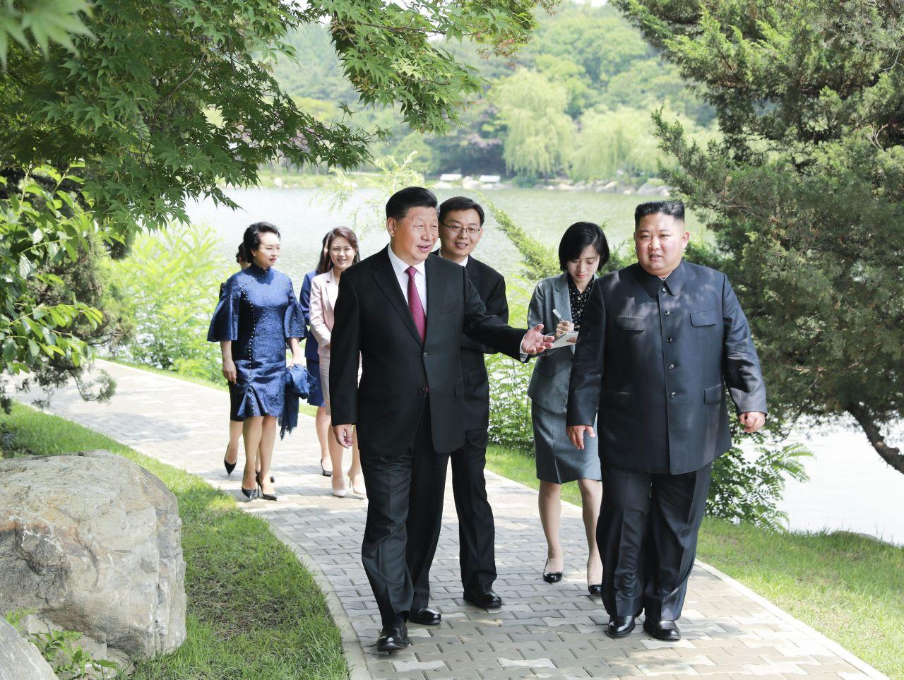 Kim Jong-un Xi Jinping