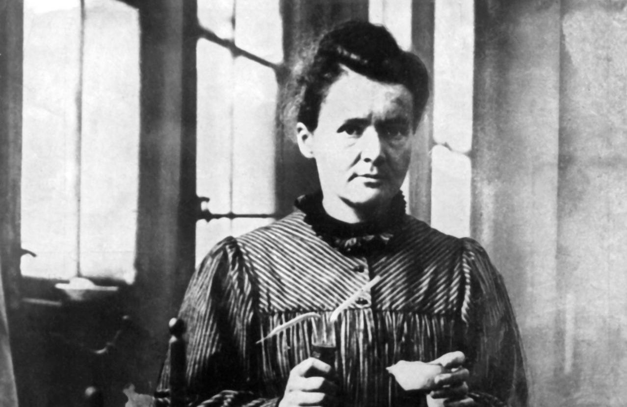 Marie Curie im Labor
