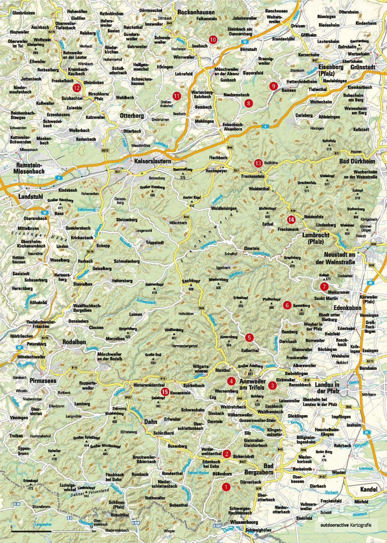 Trekkingplätze in der Pfalz