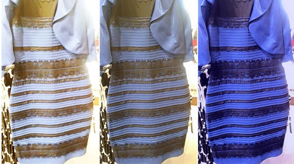 Welche Farbe erkennst du? Manche Menschen sehen ein blaues, manche ein goldenes Kleid.