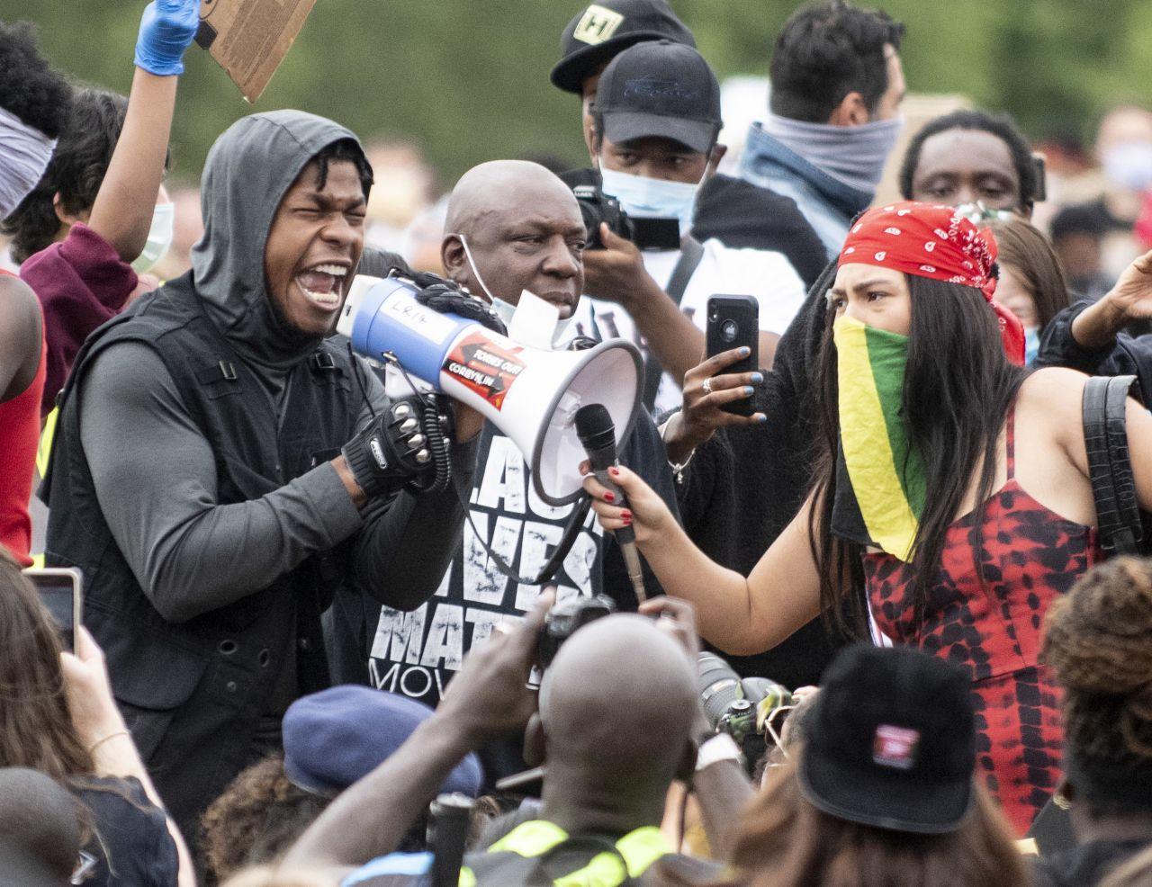 John Boyega bei einer Demo in London