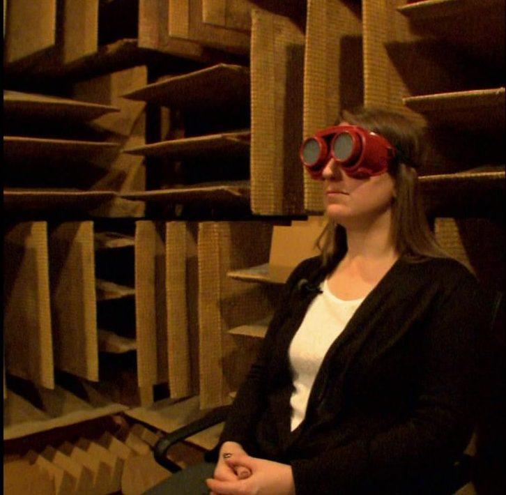 Der Raum, in dem die Bewegung deiner Augen als Quietschen hörbar ist