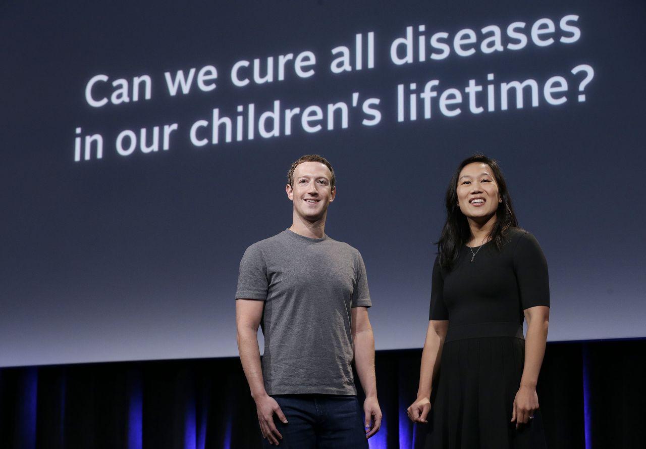 Zuckerberg und seine Frau Priscilla Chan