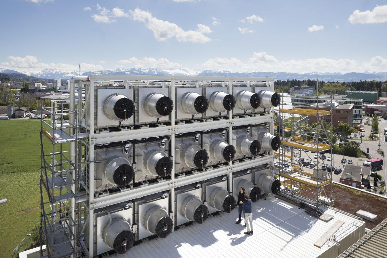 Eine CO2-Anlage in der Schweiz mit Filtern