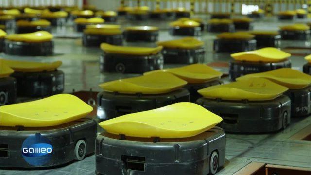 Chinas neue Arbeiter: die Roboterarmee im Paketzentrum