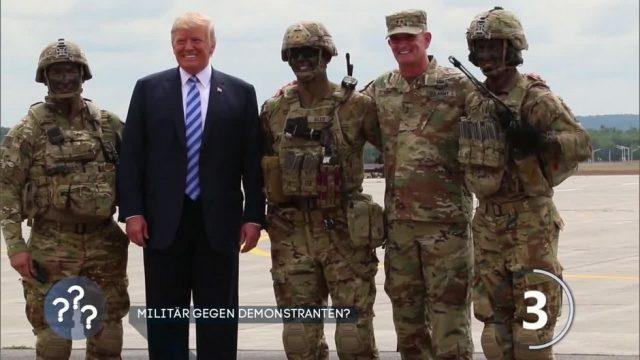 Darf Trump Militär gegen Demonstranten einsetzen?