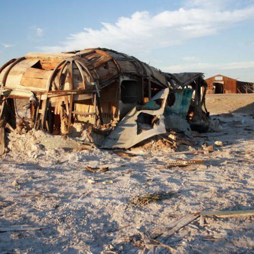Verlassene Stadt am Salton Sea