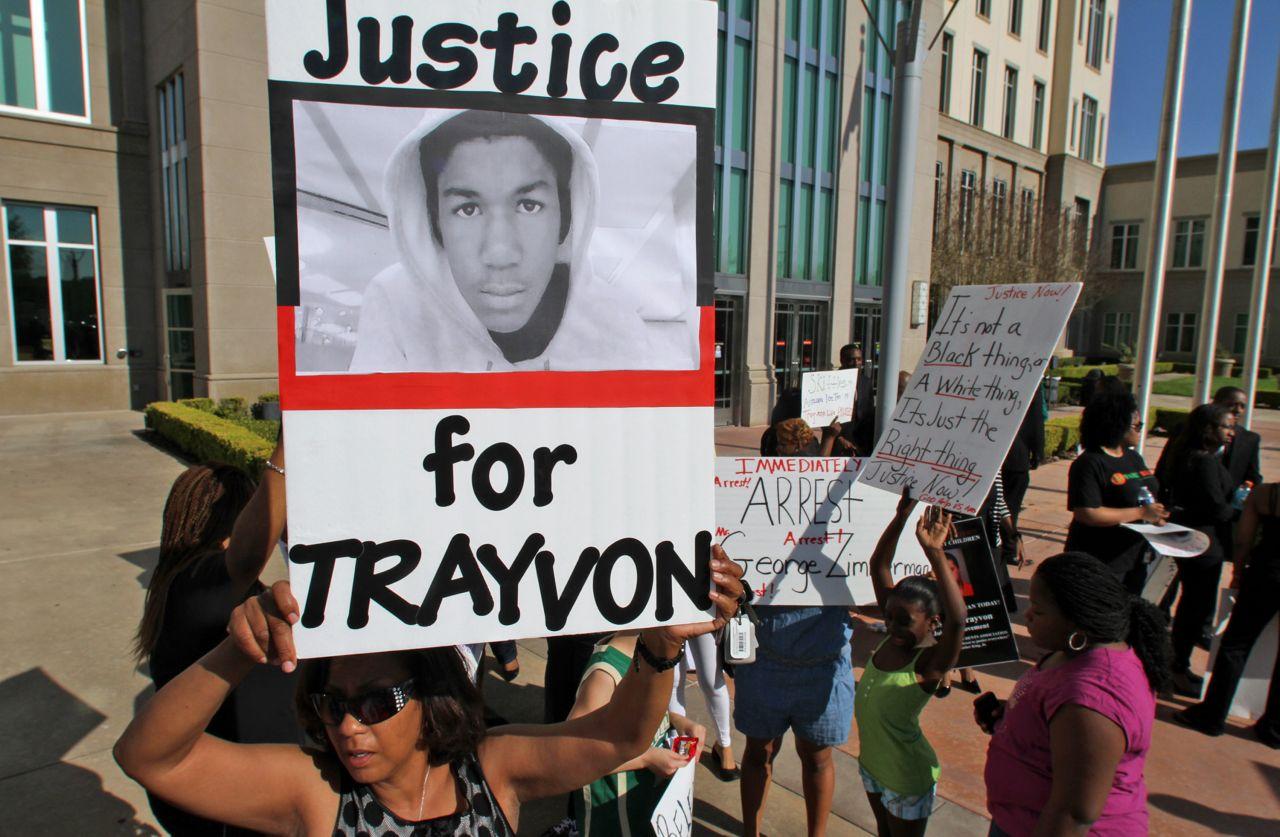 Demonstranten fordern Gerechtigkeit für Trayvon Martin