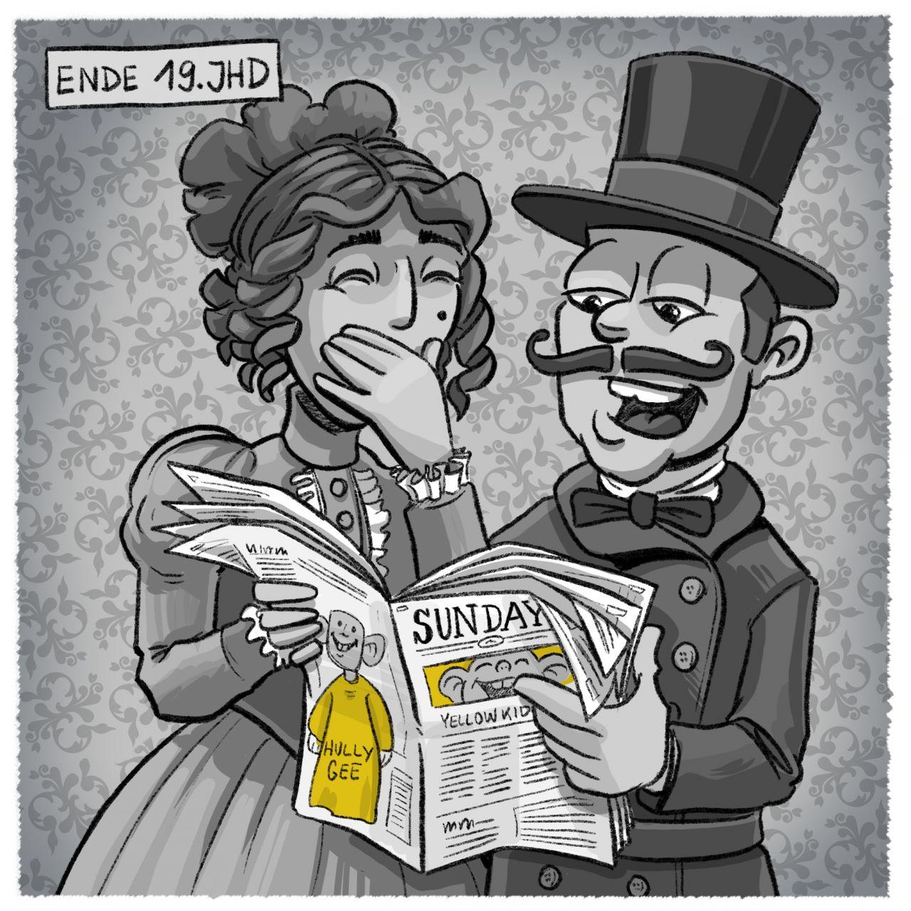 Geschichte der Comics: 19. Jahrhundert