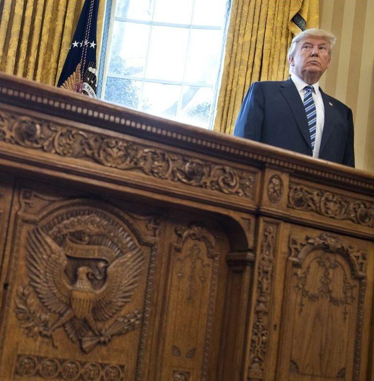 Präsident Trump im Oval Office