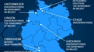 Karte: Schwermetall-Zwischenlager in Deutschland