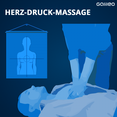 Herz-Druck-Massage Anleitung