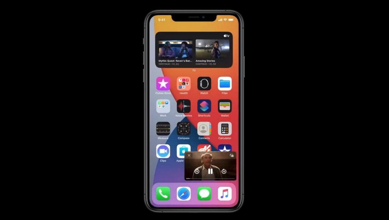 Du willst deine Serie nicht stoppen, um mal kurz eine Nachricht zu beantworten? Mit iOS 14 kannst du in einem kleinen Fenster weiterschauen.