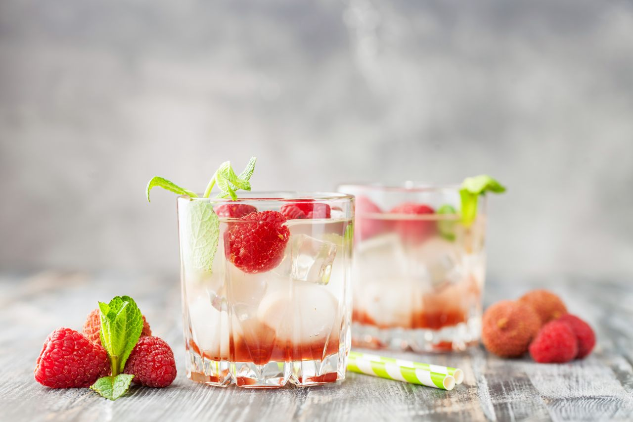 Litschi im Cocktail
