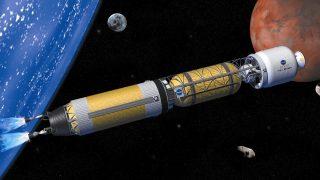 Modernes Modell einer nuklearen NASA-Rakete