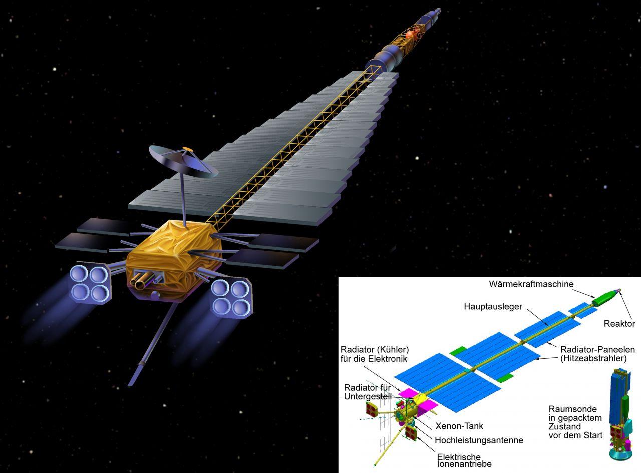 Entwurf der NASA-Sonde Jupiter Icy Moons Orbiter
