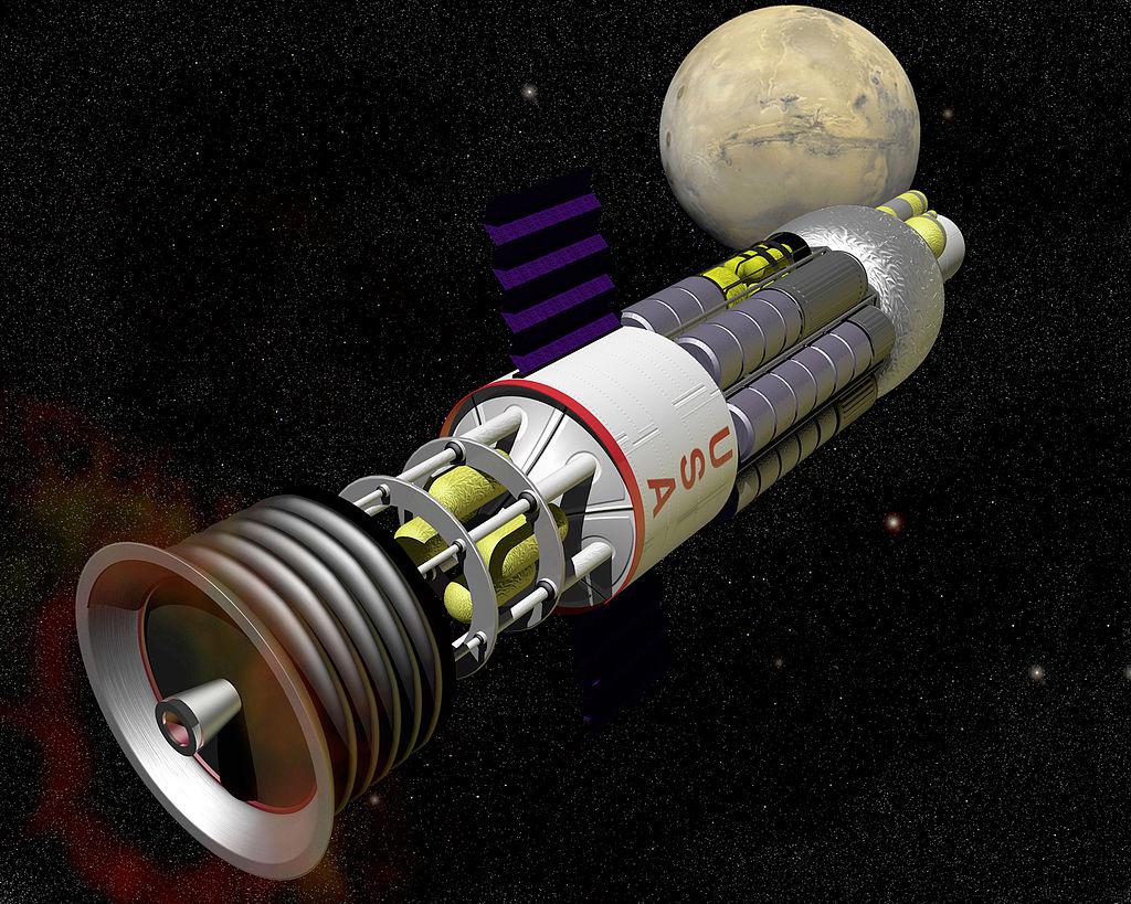 Entwurf eines Raumschiffs mit nuklearem Pulsantrieb