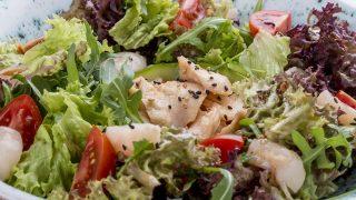 Salat mit Litschi