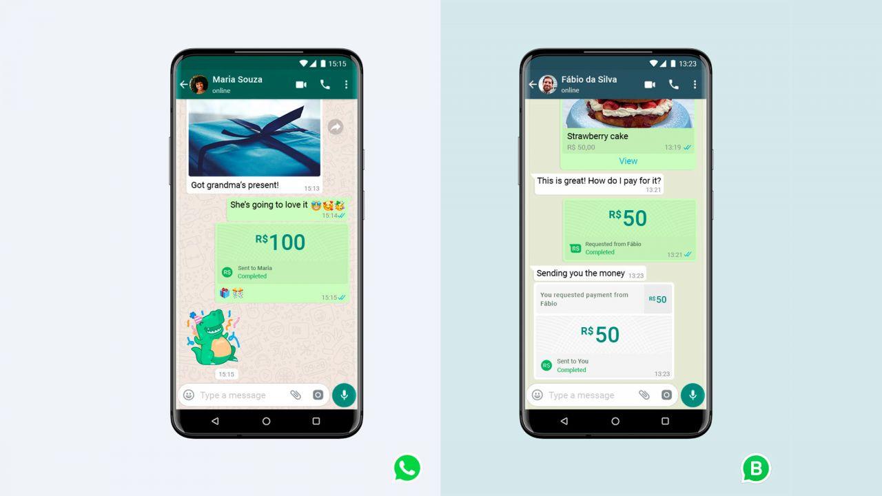 Anstelle eines Fotos versenden WhatsApp-Nutzer einfach Geld - an Freunde oder lokale Unternehmen. In Brasilien geht das schon. In Deutschland ist die Funktion bislang noch nicht angekommen.
