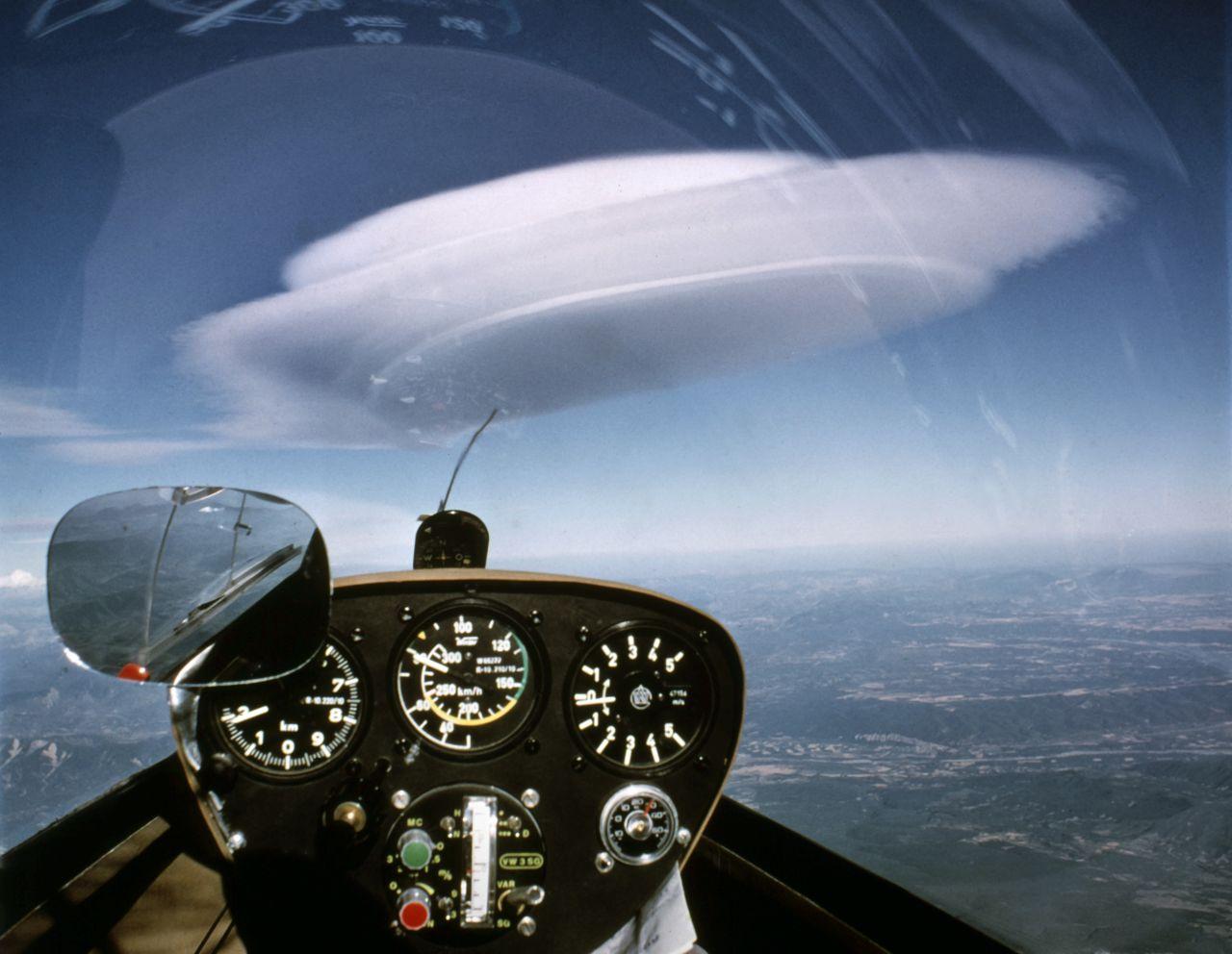 Aufnahme einer Lenticularis Wolke
