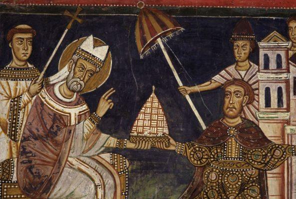Kaiser Konstantin und Papst Silvester