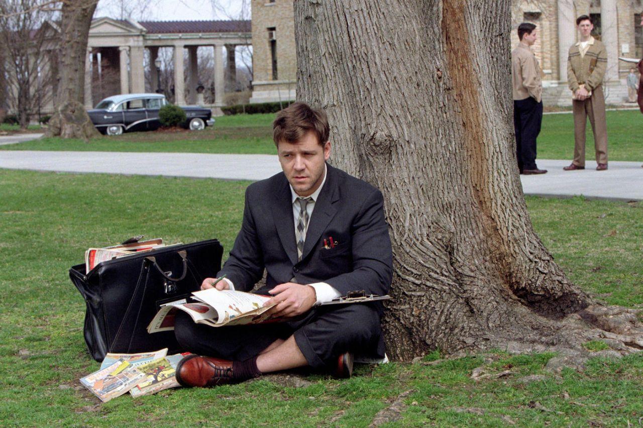 "Filmszene aus ""A Beautiful Mind"" mit Russell Crowe."