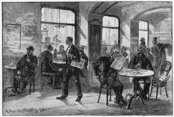 Café in den 1920-er Jahren
