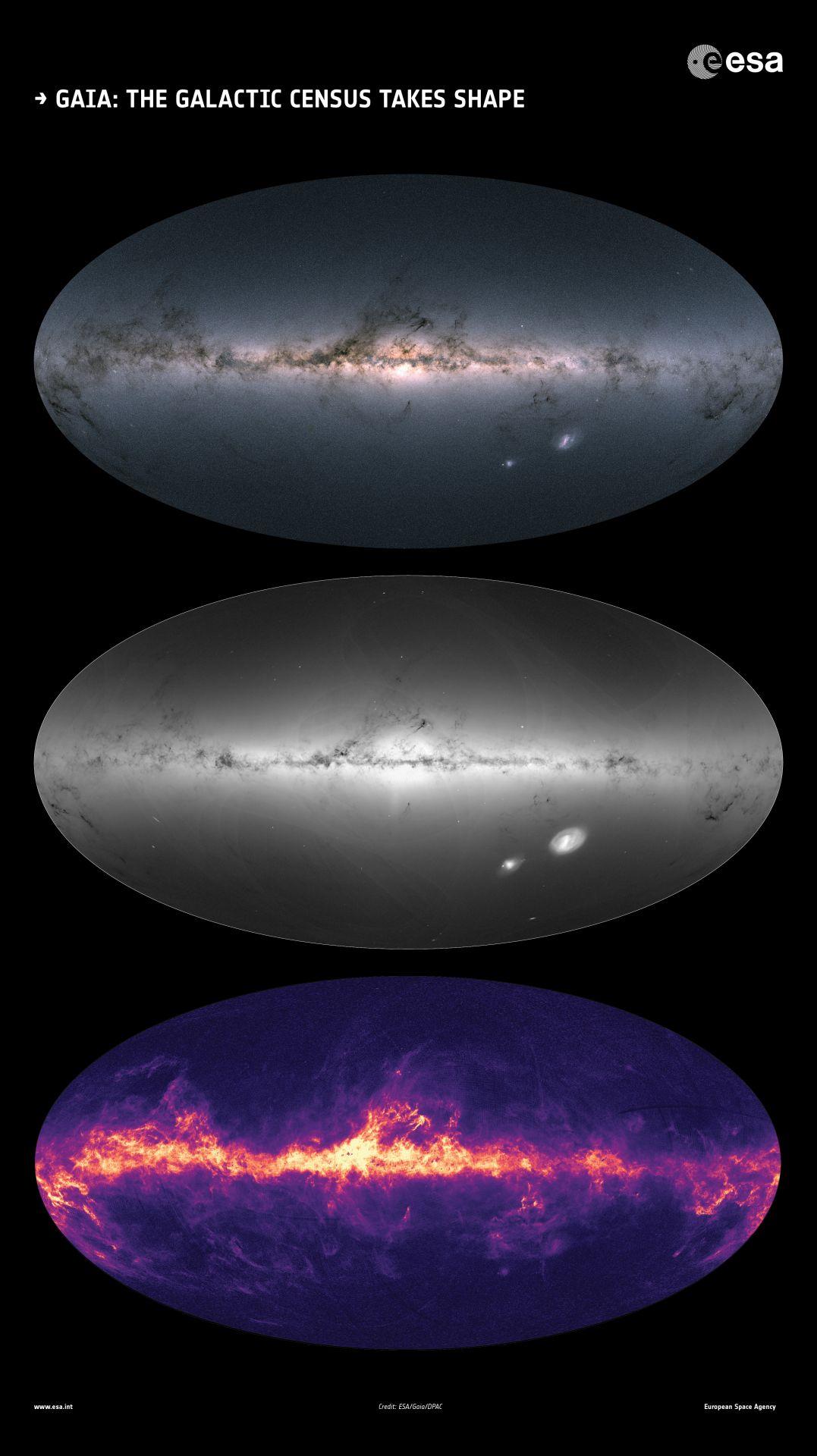 Karte des Weltalls von Gaia
