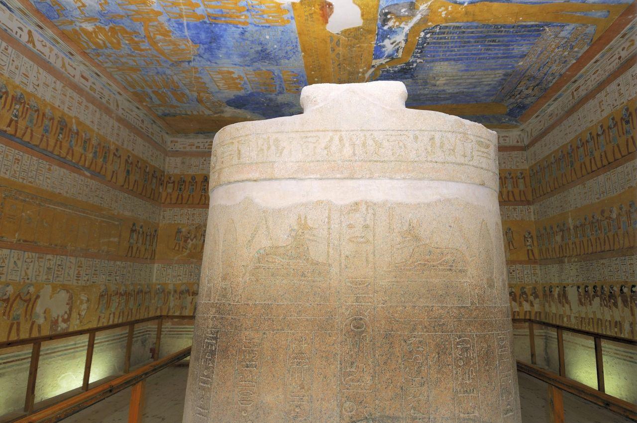 Die Grabstätte eines unbekannten Sohnes von Pharao Ramses III im Tal der Könige.
