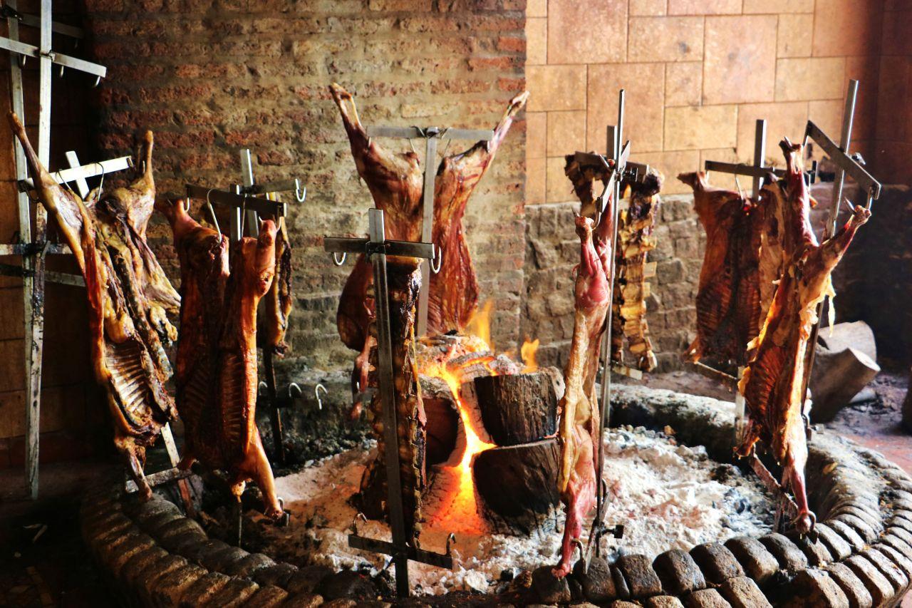 Argentinisches Lammbarbecue
