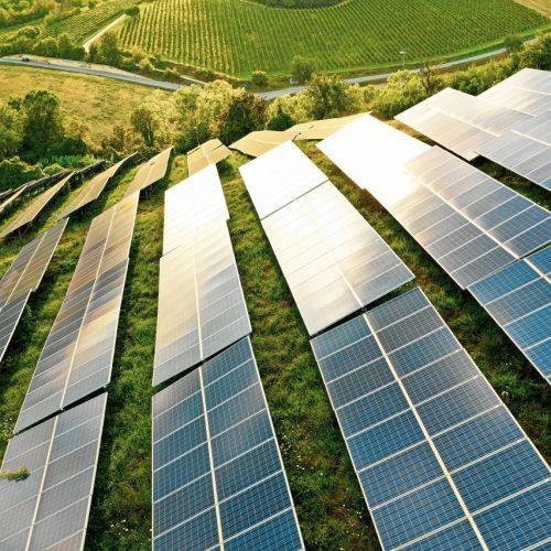 Solarzellen im Freien