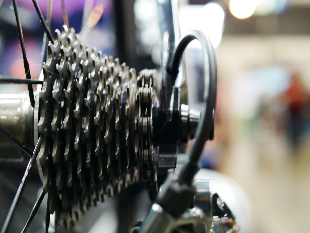 Fahrradkette und RItzel