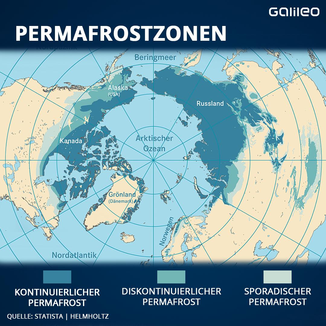Permafrostzonen weltweit