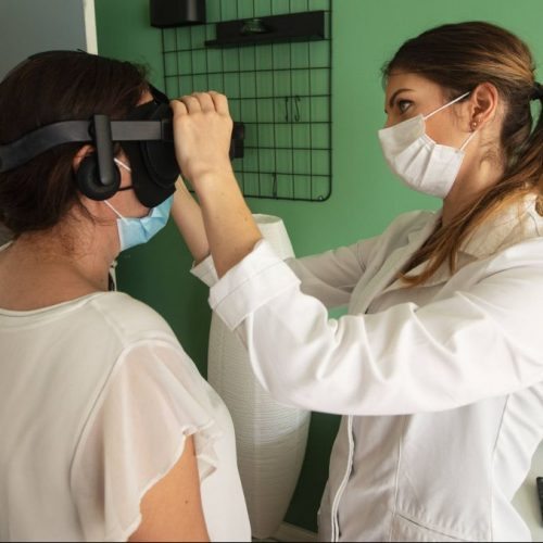 Virtual-Reality-Brille in der Physiotherapie