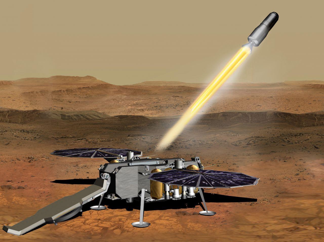 Darstellung einer Rückkehrmission vom Mars