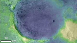 Das Landegebiet von Mars 2020