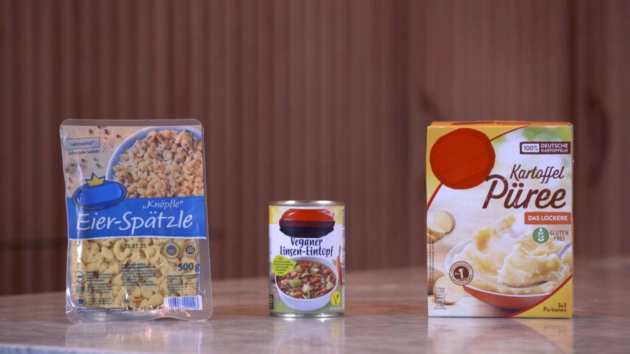 Fertigessen vs. Selbstgemachtes: Spätzle, Kartoffelpüree und Linsen-Eintopf im Test