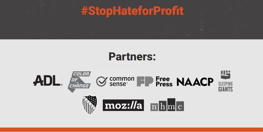 Alle Partner der Initiative #StopHateforProfit auf einen Blick.