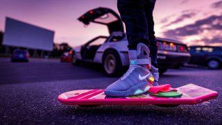 """Den Schuhen von Marty McFly aus """"Zurück in die Zukunft"""" nachempfunden: die Nike Air Marty McFly."""