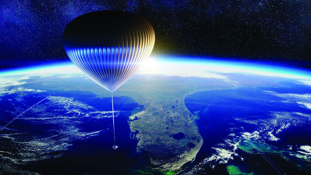 """Der """"Neptune Space Balloon"""" von """"Space Perspective"""" soll ein Durchmesser von 100 Metern erreichen."""