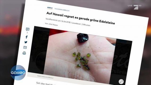 Fake News: Spuckt der Vulkan auf Hawaii tatsächlich Edelsteine aus?
