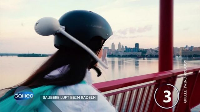 Saubere Luft beim Radfahren