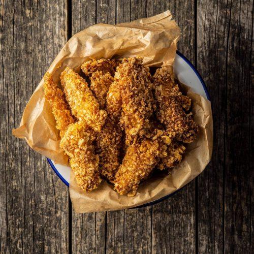 Chicken Nuggets Herstellung Küken