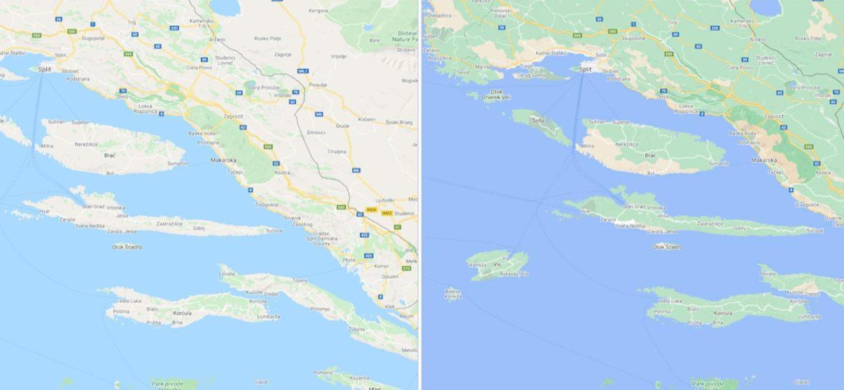 Google Maps Kroatien