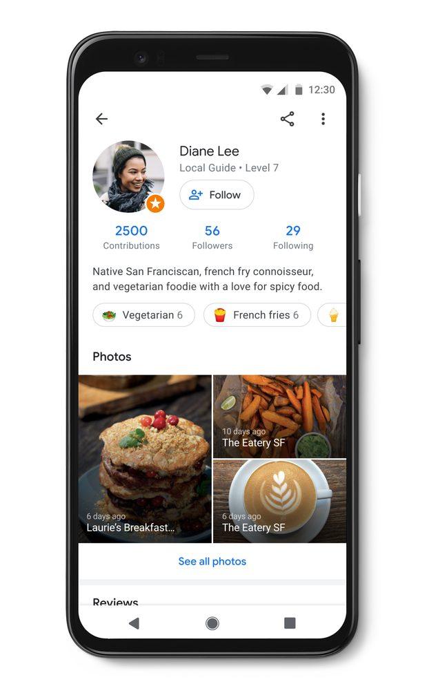 So sieht die Profil-Seite aus, denen Google-Maps-Nutzer künftig folgen können.