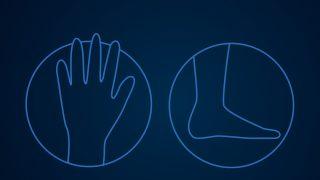 Finger und Zehen Corona