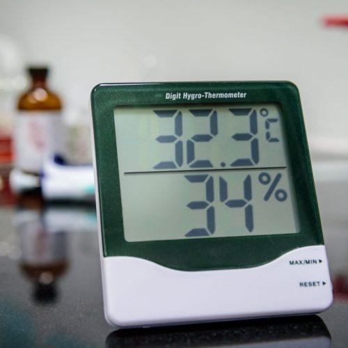 Hygrometer zur Messung der Luftfeuchtigkeit